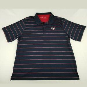 Antigua Houston Texans Polo Striped Shirt 2XL